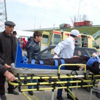 Совместные учения с Кизилюртовской ЦГБ и пожарными